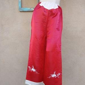 1950s Red Beach Pajama Hostess Pants